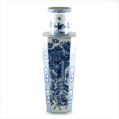Lot 45-Chinese blue and white vase