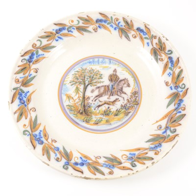 Lot 1056A-A French faience charger, 18th century
