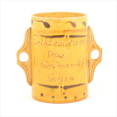 Lot 77-A 19th Century slipware loving cup
