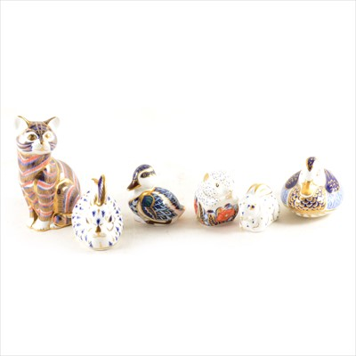Lot 13-Six Royal Crown Derby paperweights