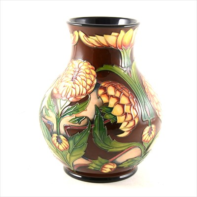 Lot 4-A 'Dahlia' limited edition vase, designed by Philip Gibson for Moorcroft Pottery