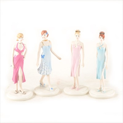 Lot 39-A set of twelve Coalport figurines - The Birthstone Collection