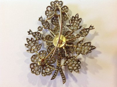 Lot 60 - A late 19th Century diamond floral spray brooch