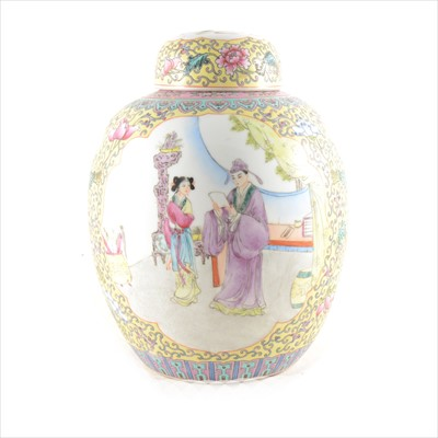 Lot 18-A Chinese famille rose ginger jar