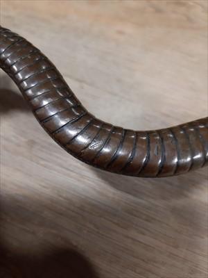 Lot 237 - A Japanese bronze model of a snake, probably Meiji