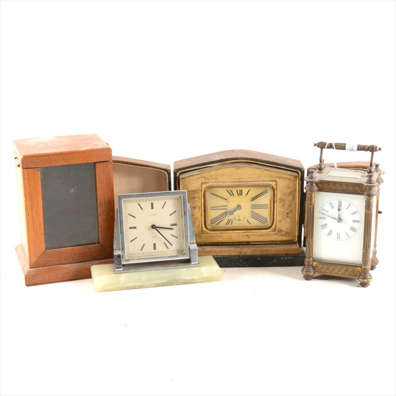 Lot 223 A Brass Cased Carriage Clock An Art Deco