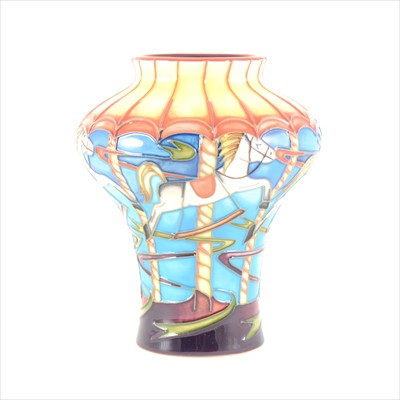Lot 43-A 'Merry-go-Round' limited edition Moorcroft Pottery vase, designed by Emma Bossons
