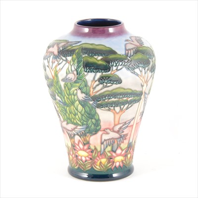 Lot 49-A Moorcroft Collectors Club vase, designed by Philip Gibson, 2001
