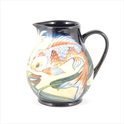 Lot 27-A 'Quiet Waters' Moorcroft Pottery jug, designed by Philip Gibson