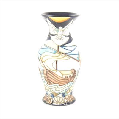 Lot 44-A 'Winds of Change' Moorcroft Pottery vase, designed by Rachel Bishop, 2nd quality