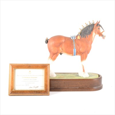 """Lot 29-A Royal Worcester limited edition horse model, """"Clydesdale Stallion"""", by Doris Lindner"""