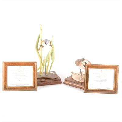Lot 17-Two Royal Worcester limited edition bird models, modelled by James Adler