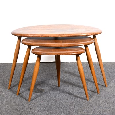Lot 7-An Ercol nest of tables