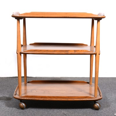 Lot 2-An Ercol three-tier dinner trolley