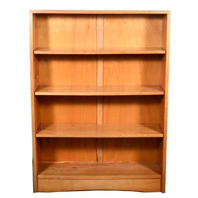 Lot 531-An ash Arts and Crafts style open bookcase