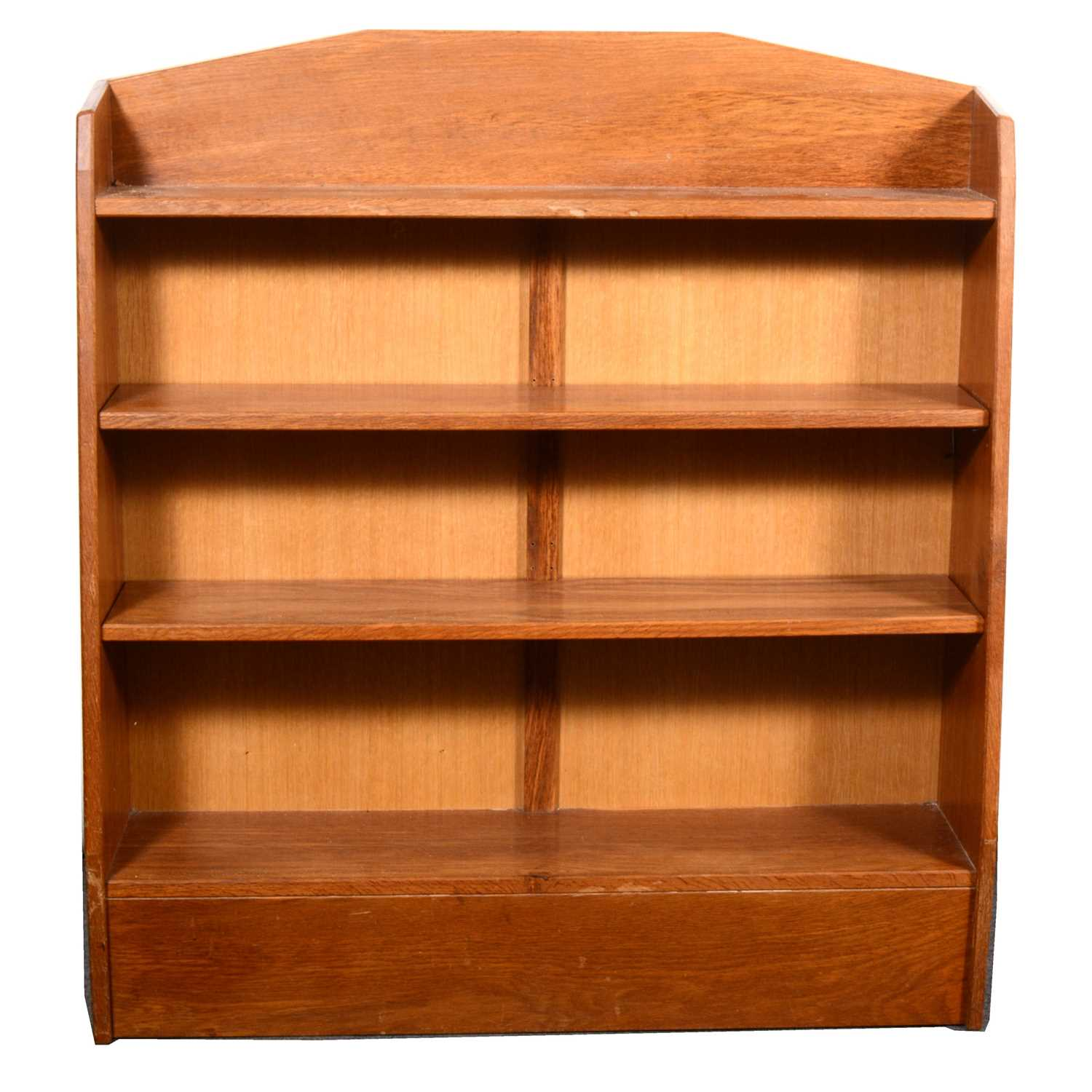 Lot 530-A set of oak Arts and Crafts style open bookcase