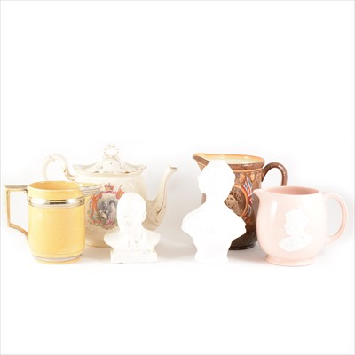 Lot 32-Collection of Commemorative ware, Victorian to Queen Elizabeth II