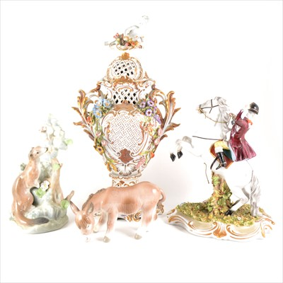 Lot 51-A collection of decorative figures and ceramics