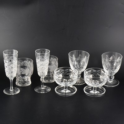 Lot 46-A collection of cut crystal table glass.