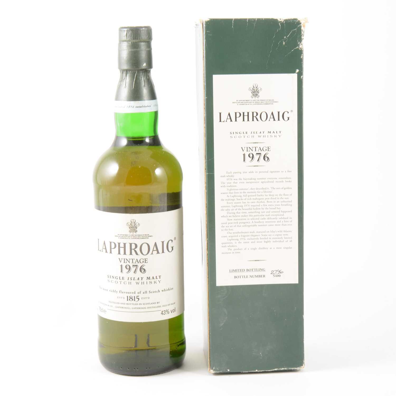Lot 303-LAPHROAIG - VINTAGE 1976 - single Isle malt whisky, numbered 2796 of 5400