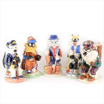 Lot 41-Five limited edition Kevin Francis character jugs - The Looney Tunes Toby Jug Collection