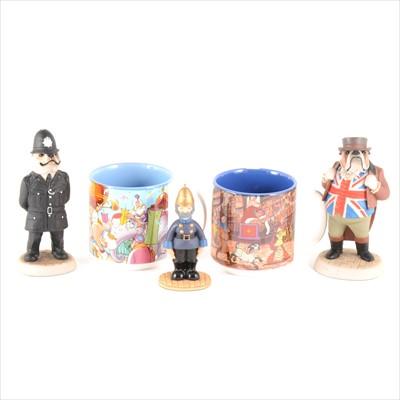 Lot 57-Nine Robert Harrop Camberwick Green figures, and eleven Disney mugs.