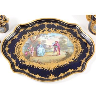 Lot 370 - A Sevres style cabaret set, probably Limoges, late 19th century