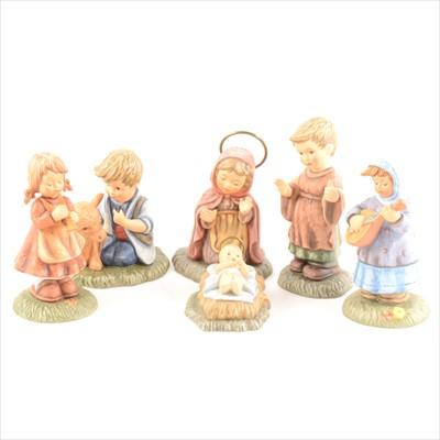 Lot 56-Six Berta Hummel nativity scene figures, boxed.