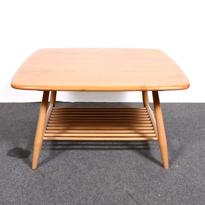 Lot 8-An Ercol coffee table with magazine undertier