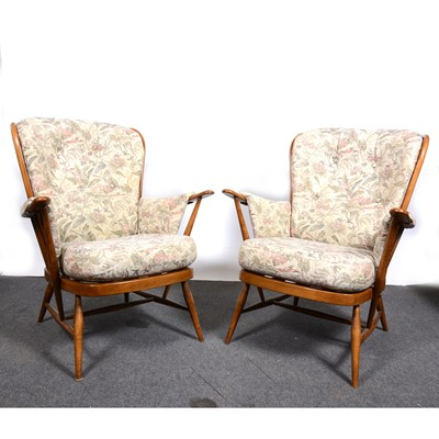 Lot 11-A pair of Ercol elbow chairs