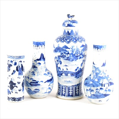 Lot 72-A collection of Chinese blue and white porcelain