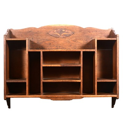 Lot 509-An Aesthetic movement oak hanging set of shelves, late 19th century
