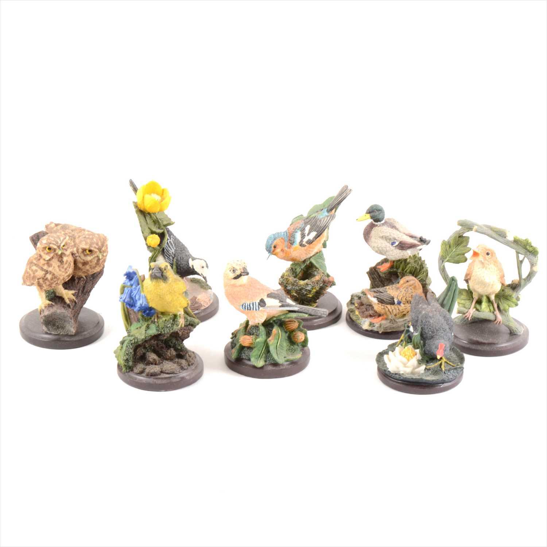 Lot 24-Quantity of composition bird figures