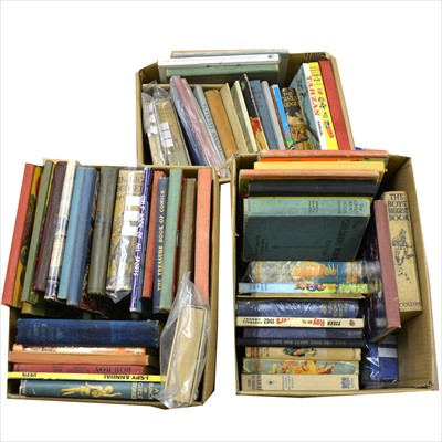 Lot 48-Children's annuals and books; three boxes including school stories, Roy of the Rovers, illustrated and others.