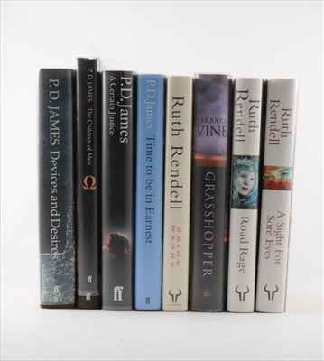 Lot 20-P D JAMES, Devices and Desires, Faber & Faber...