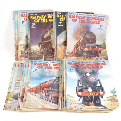 Lot 41-Railway Wonders of the World Weekly magazines, full run from part 1 to part 50, etc.