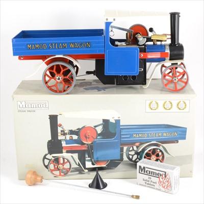 Lot 20-Mamod live steam; SW1 steam wagon engine, blue body, boxed
