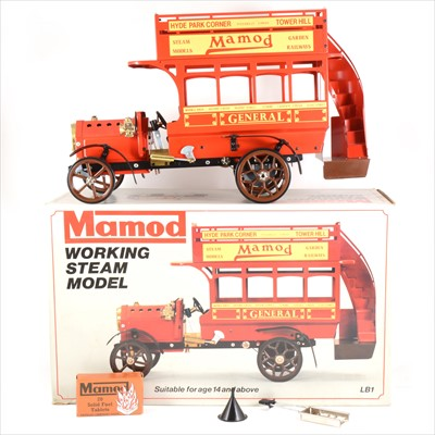 Lot 15-Mamod live steam; LB1 working steam model London Omnibus bus, red body, with box.