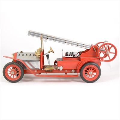 Lot 16-Mamod live steam; FE1 fire engine model, red body, no box.