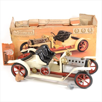 Lot 22-Mamod live steam; SA1 steam roadster model engine, with steering pole, fuel tablets, boxed.