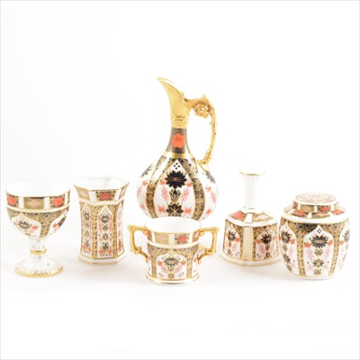 Lot 5-Six pieces of Royal Crown Derby, Old Imari pattern
