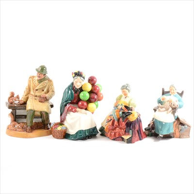 Lot 4-Six Royal Doulton figurines.