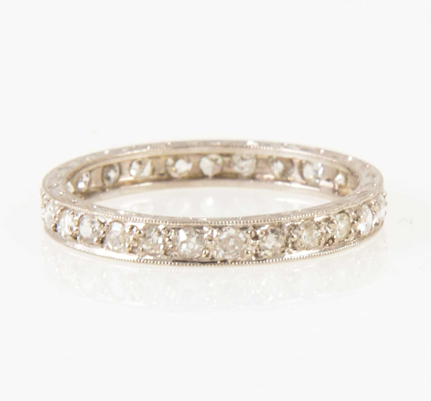 Lot 15-A diamond full eternity ring.