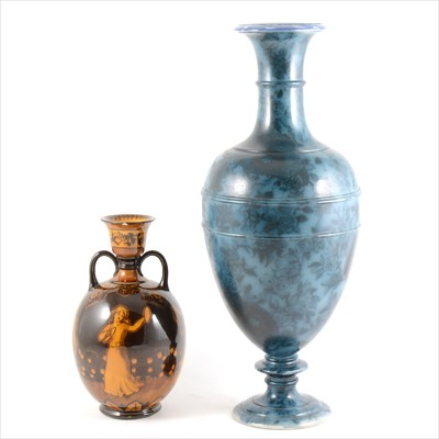 Lot 59-Doulton Lambeth Faience Ware vase, and a Morrisian Series vase