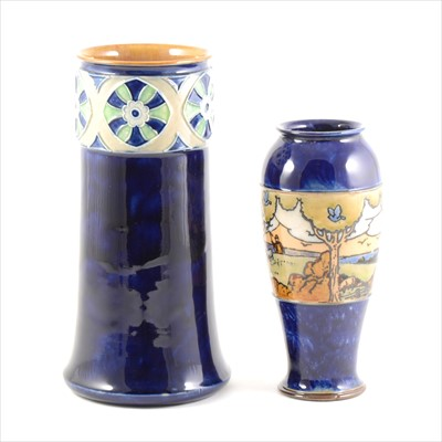 Lot 69-Two Doulton Lambeth stoneware vases, circa 1910