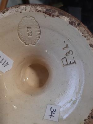 Lot 19-A pair of Doulton Lambeth 'Impasto' Ware vases, dated 1879