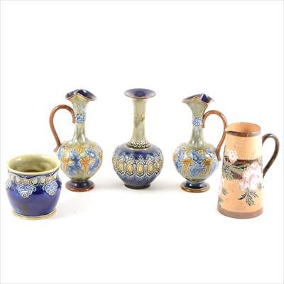 Lot 67-Five items of Doulton Lambeth stoneware