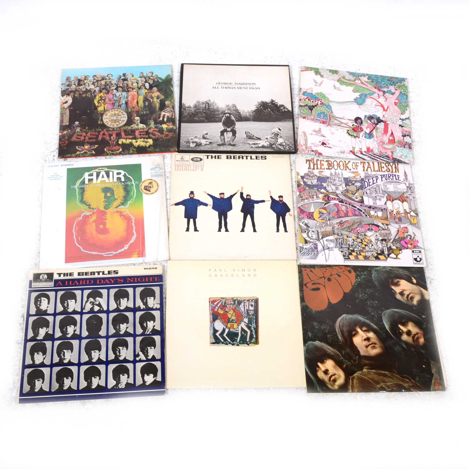 """Lot 31-Vinyl LP and 7"""" single records; including nineteen LPs, Fleetwood Mac Kiln House and The Beatles"""