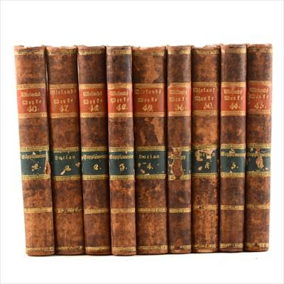 Lot 49-C M BIELANDS, Fammtliche Berte, published Bien, 1812, 9 vols, half leather bound, numbered 36, 40, 42, 44-50.