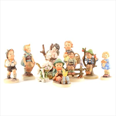 Lot 14-A collection of seven Hummell figures and other decorative china.